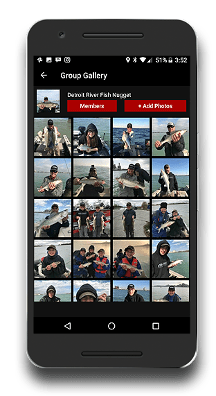 fishing app fishbuoy group photo management