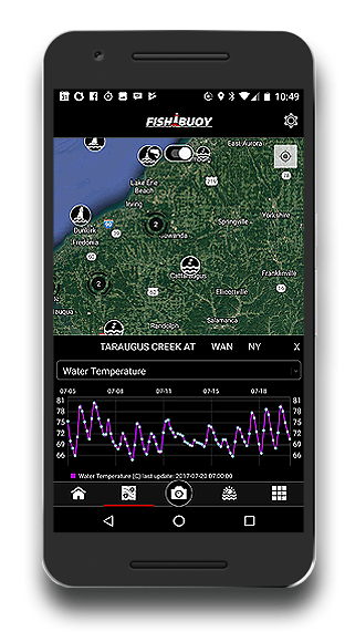 Fishing App - FISHBUOY Real-Time Water Data