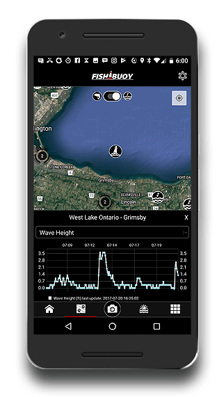 fishing app marine wave data