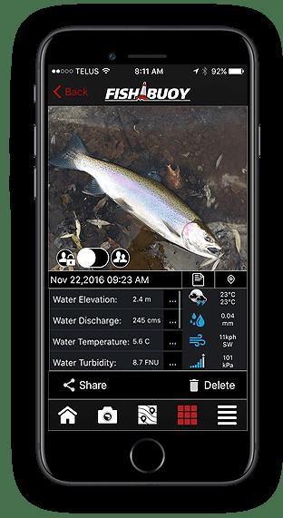Fishing App - FISHBUOY Catch Details