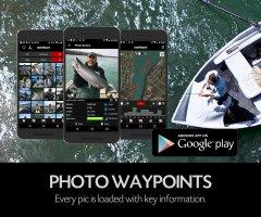 Fishing App - FISHBUOY Pro offers advanced tools for capturing data, managing photos and geographically tagged photos as waypoints.