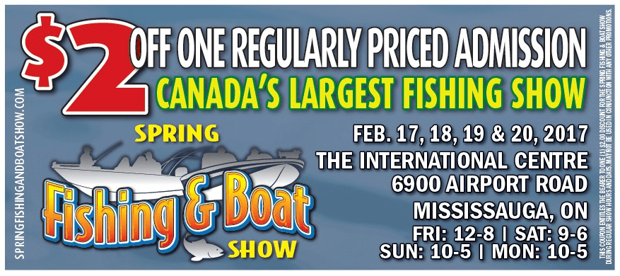 Spring Fishing and Boat Show Coupon FISHBUOY