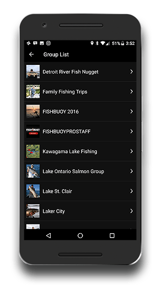 Fishing App - FISHBUOY Pro - Private Fishing Group List