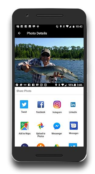 FIshing App - FISHBUOY Pro - Social Media Share