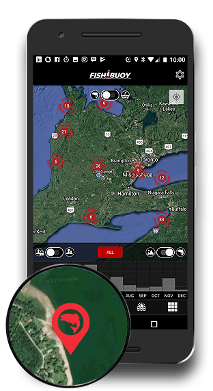 FISHING MAPS FISHBUOY APP