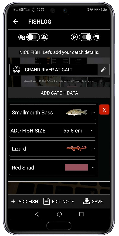 Fish Data Entry