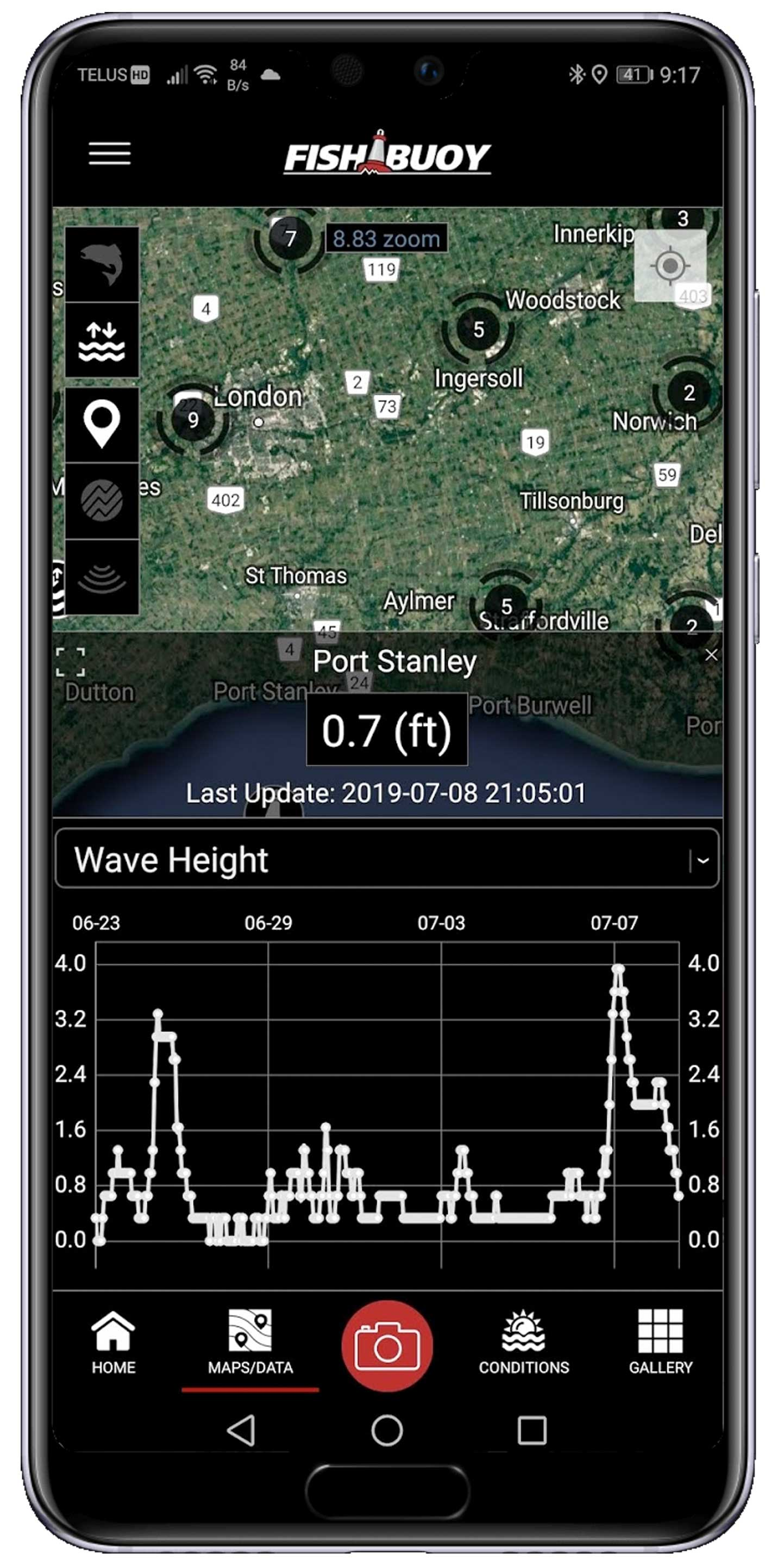 Real-Time Marine Buoy Data