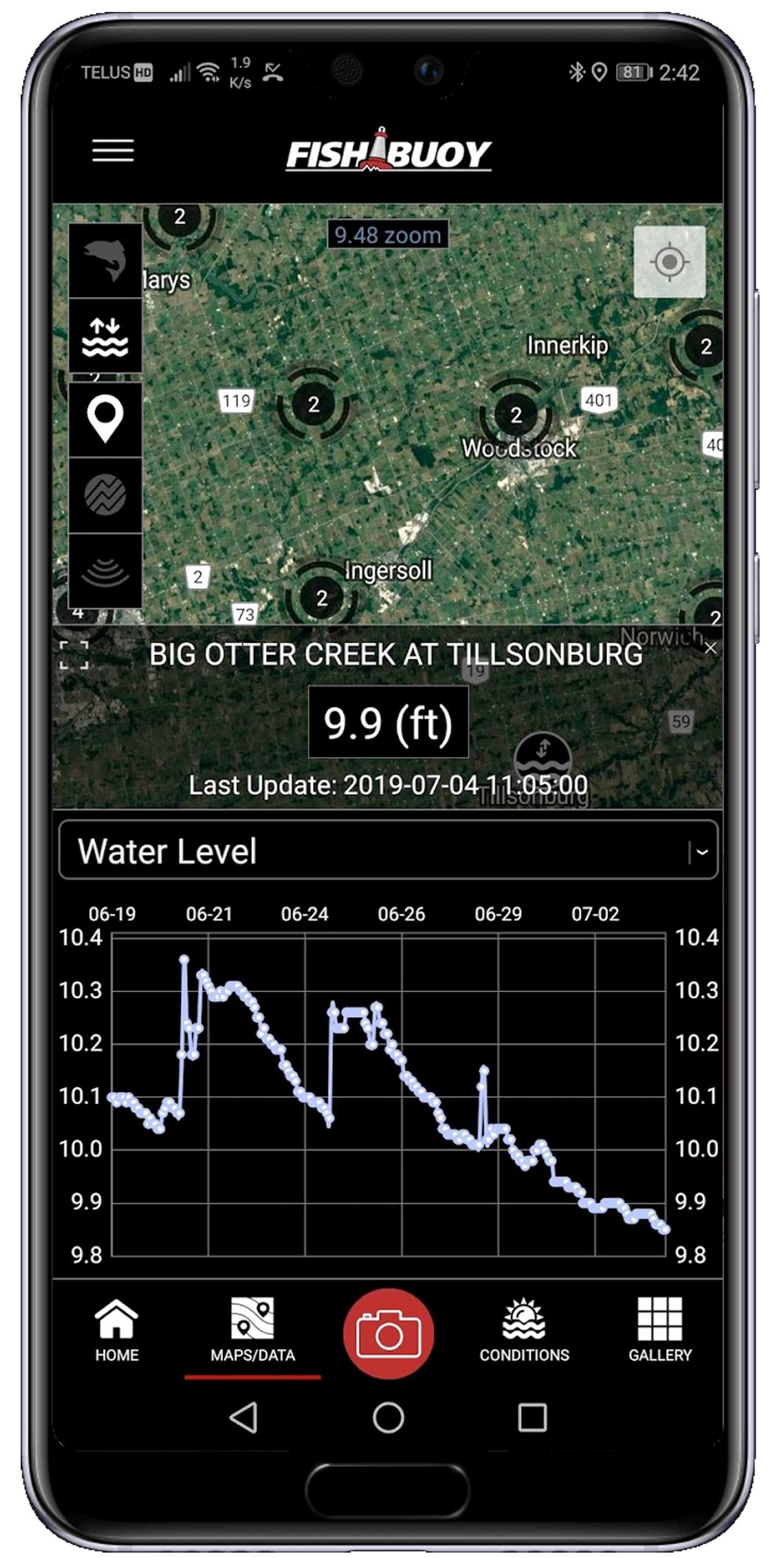Real-Time Water Gauge Data