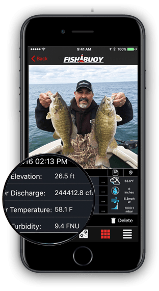 WATER CONDITIONS FISHBUOY APP